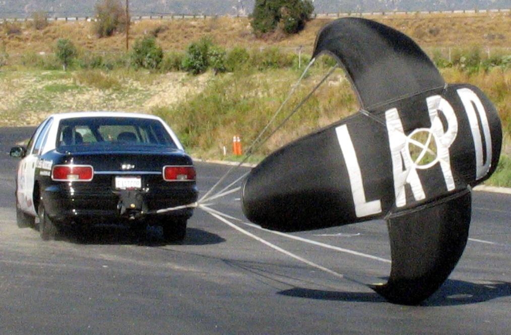 LAPD Racing's Caprice trying to slow down